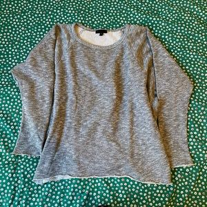 GREY TOPSHOP BUTTERFLY SLEEVE TOP S/M
